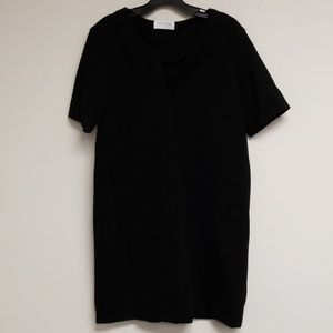 Everlane Black Pullover V-neck Shift Dress Size L